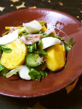 柿とカブで秋サラダ