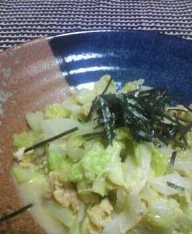 マヨと柚子胡椒でツナ❤キャべツ炒め