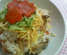 鮭ときのこのちらし寿司