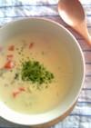 シーフードミックスのチーズクリームスープ