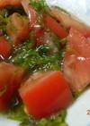 簡単美味!トマトのめかぶ和え
