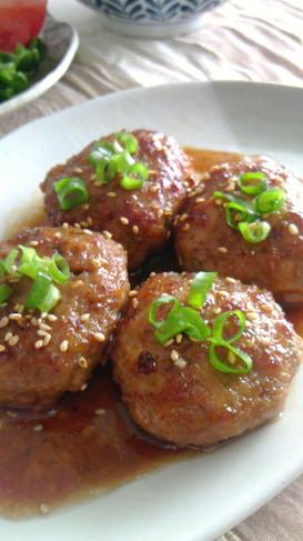 豚挽き肉でつくねの照り焼き