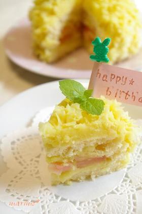 1歳の誕生日に☆さつまいもと林檎のケーキ