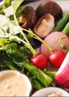 温野菜とヨーグルトみそディップソース