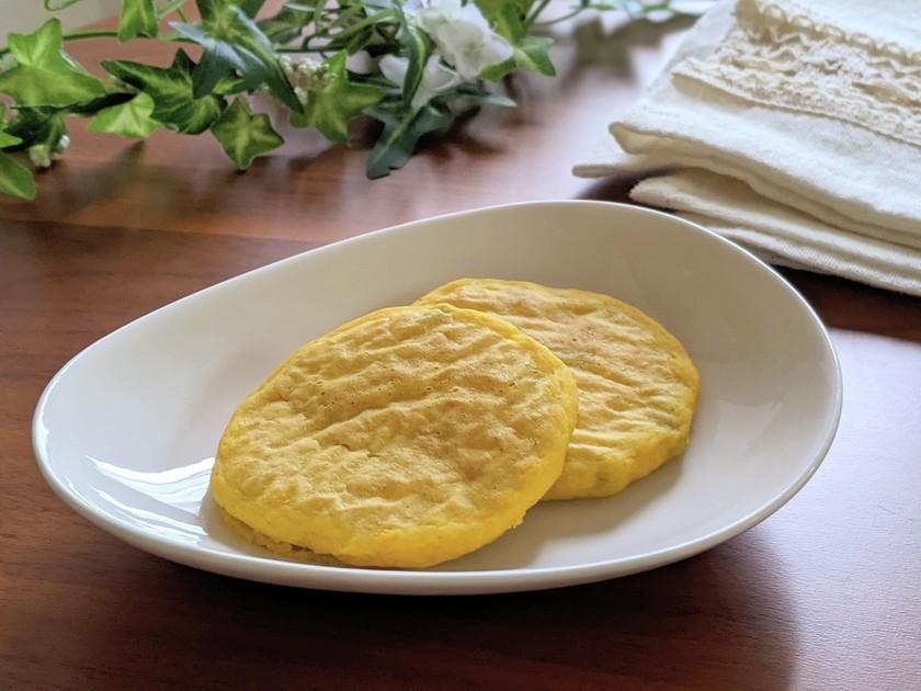 【手づかみ食べ】南瓜の米粉パンケーキ