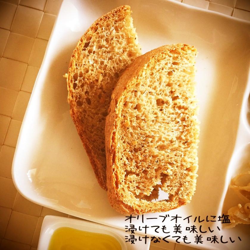 豆腐もご飯も?!な全粒粉風フランスパン♪