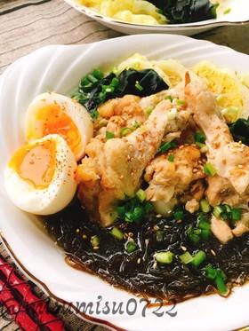 鶏手羽元もずくの生姜たっぷりスープ麻油鶏