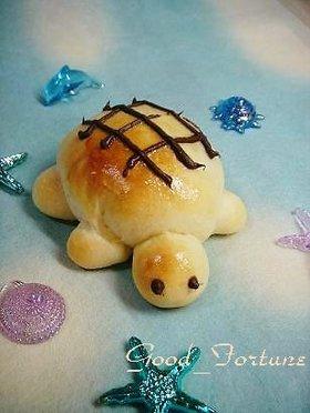 かめさんのチョコレートパン
