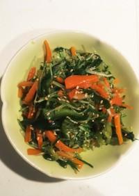 水菜と人参ときゅうりのナムル