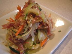 塩豚と野菜の簡単和え