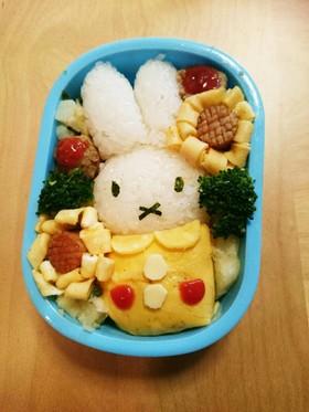 【キャラ弁】ミッフィーのお弁当