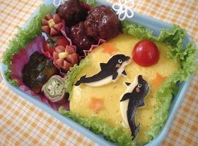 キャラ弁☆イルカのお弁当