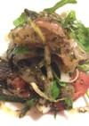 海苔佃煮で真鯛のカルパッチョ風サラダ