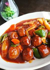 市販の肉団子を酢豚に簡単アレンジ!