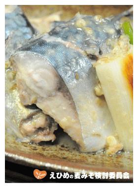 サバの麦味噌煮