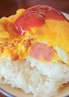 納豆ウィンナーオムレツ丼