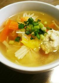 旨味たっぷり☆ふわふわ鶏団子スープ☆