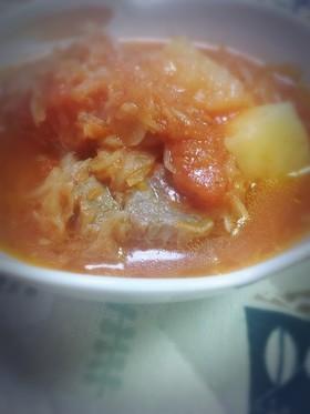 ザワークラウトの煮込みトマトスープ☆
