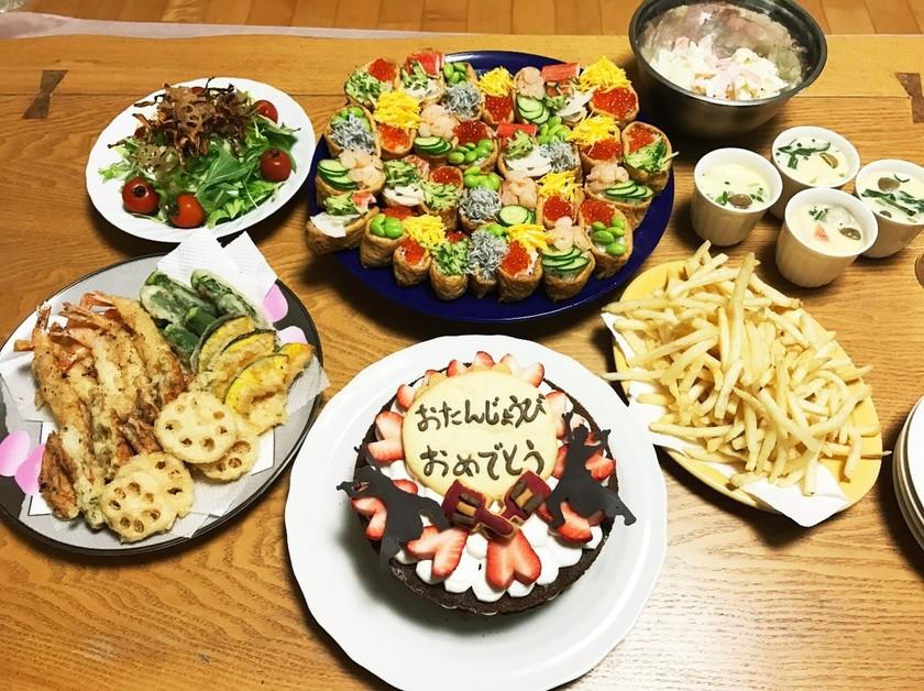 姫の為の誕生日の夜ご飯