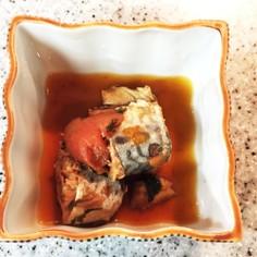 鯖缶の梅煮