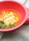離乳食☆ブロッコリーとトマトスープうどん