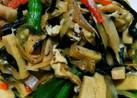 大根の皮と、高野豆腐の五目煮