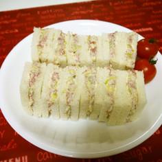 カフェ風♡コンビーフのサンドイッチ♪