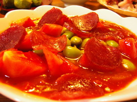 枝豆をごりごり食べちゃうトマトスープ