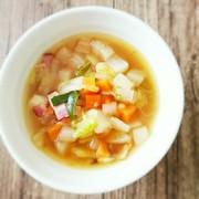 からだぽかぽか生姜と具沢山のおかずスープの写真