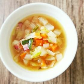 からだぽかぽか生姜と具沢山のおかずスープ