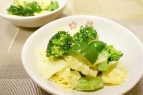 春キャベツとブロッコリーの温野菜和え物