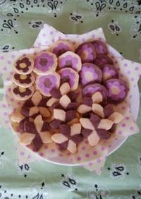 お花のアイスボックスクッキー
