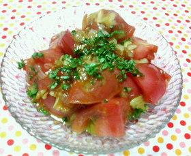トマトの♡簡単♥オイスターソース炒め♡