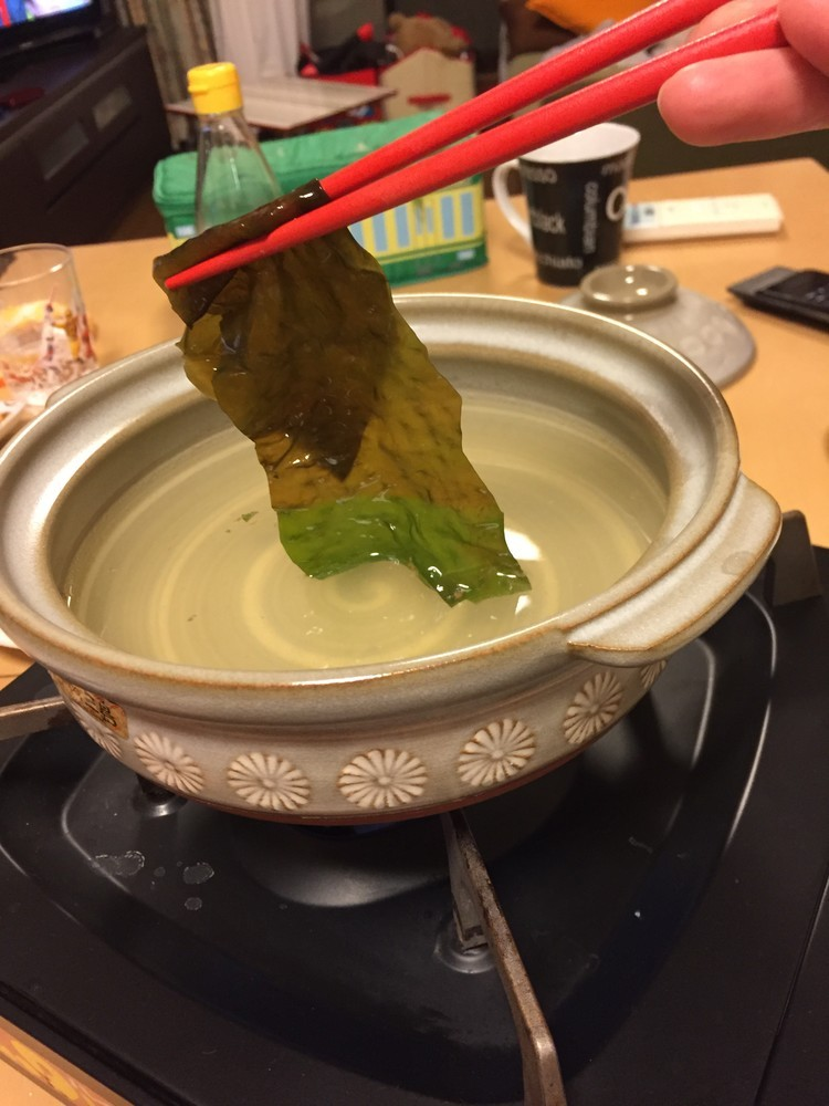 これぞ日本!春の鍋⭐︎わかめしゃぶしゃぶ