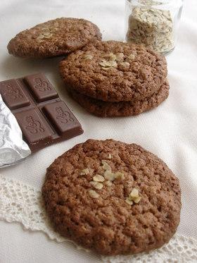 チョコ♡オートミールクッキー♡♡