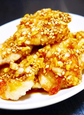 鶏胸肉油淋鶏(ユーリンチー)