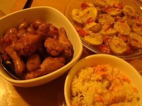 やさしい和風味♪鮭と小芋の炊き込みご飯