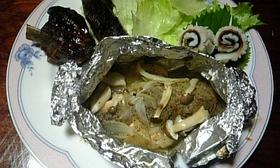 秋生鮭のホイル焼き