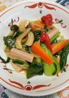 魚肉ソーセージと彩り野菜炒め