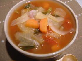 簡単ヘルシー☆トマトしょうがスープ