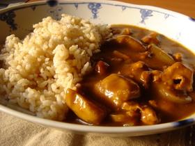 発芽玄米の和風カレー