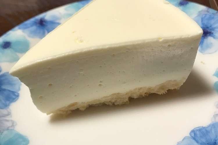 レアチーズ ケーキ 簡単