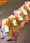 生ハムとクリームチーズの洋風にぎり寿司