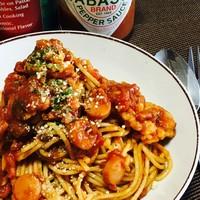 トマトベースのオリジナルパスタ