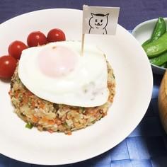野菜たっぷり!猫村さんのネコムライス♪