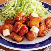 「しょうが照り焼きだれ」で鶏ももひと口ステーキ