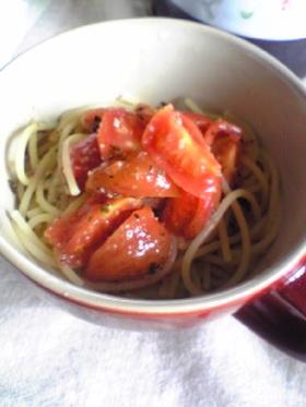 簡単冷たいトマトパスタ