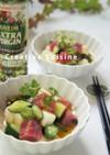 こくウマ+コロコロ野菜と鰹の酢味噌和え