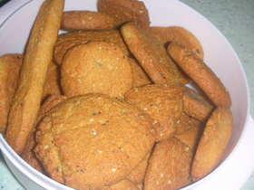 サラダ油で♪簡単ごまごまきなこクッキー