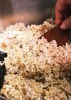 圧力鍋で玄米、押し麦、もち麦ご飯